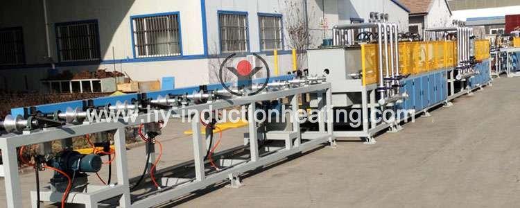Bar induction hardening line