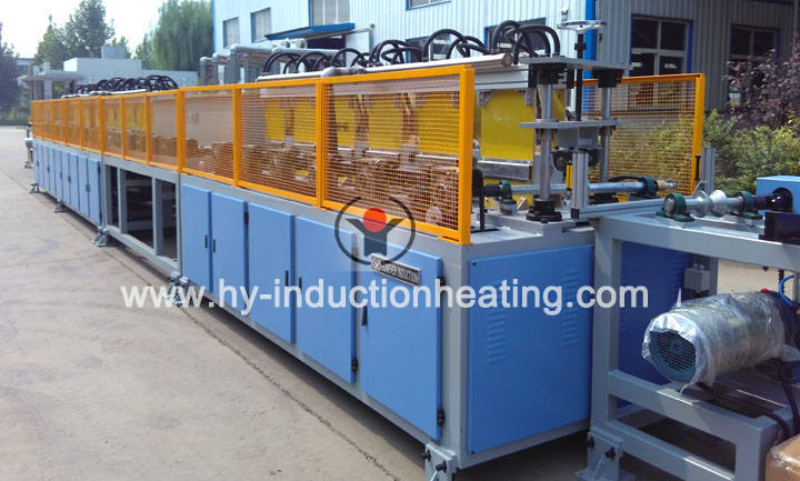 Hardening and tempering machine for bar