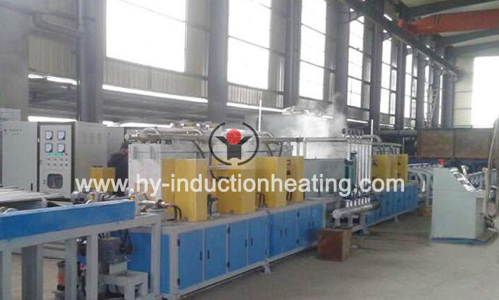 Hardening and tempering machine for pipe