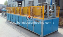 Induction bar heater for steel ball rolling