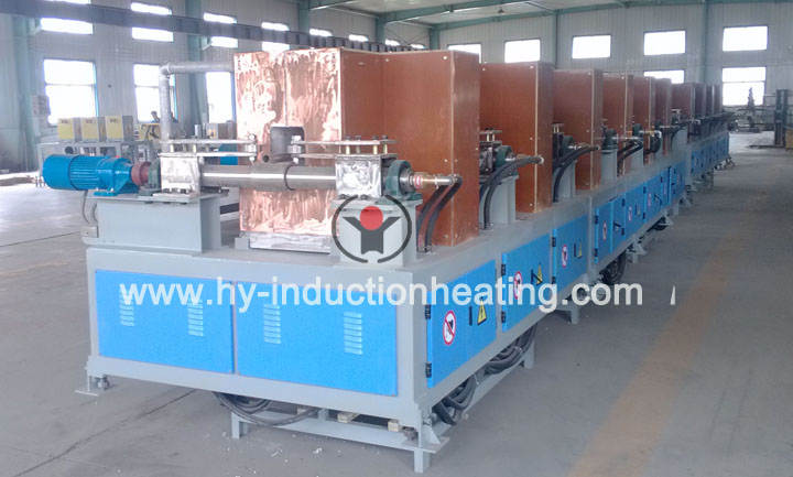Induction heating furnace for T-steel, channel steel, angle steel