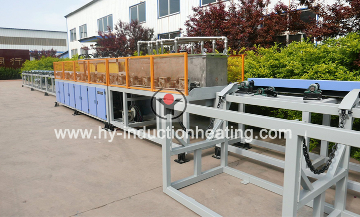 Induction quenching furnace for round bar