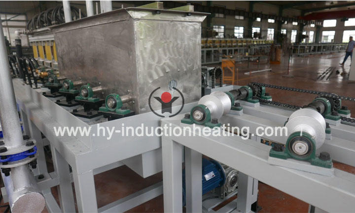 Surface quenching furnace for shaft
