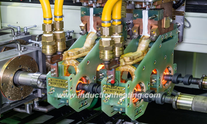 Shaft heat treatment line