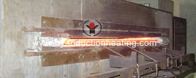 Slab induction heating furnace