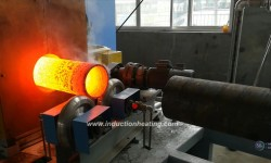 Steel tube induciton heating machine
