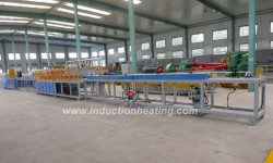 Tubing heat treatment line