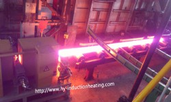 Automatic feeding long billet induction heating furnace