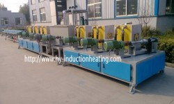 Long bar induction electric heating hardening furnace
