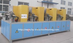 Medium frequency billet induction heating machine