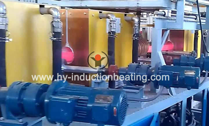 Quenching and tempering line for pipe