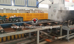 Steel plate hardening and tempering